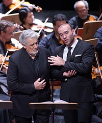 Placido Domingo and Michael Fabiano in I Due Foscari at the Teatro Real